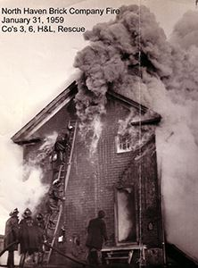 North Haven Brick Company FIre on January 31, 1959