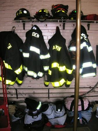 Uniforms and fire equipment