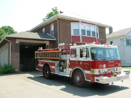 Station 5 with a truck leaving