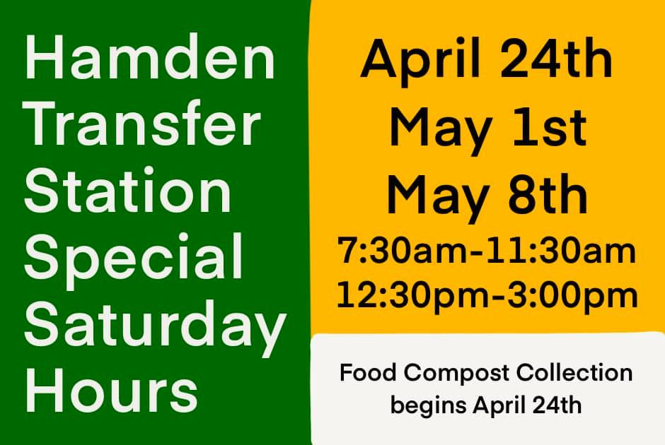 transfer station special hours flyer