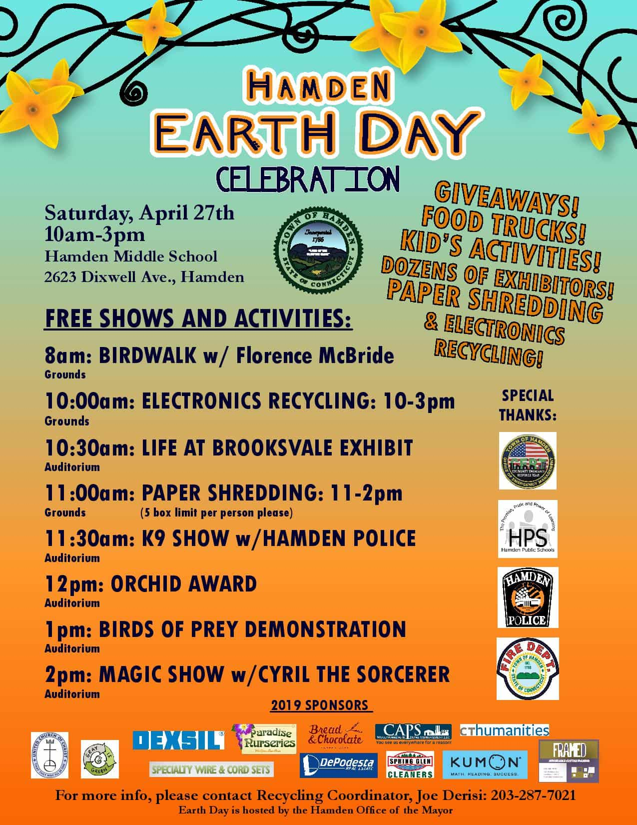 Earth Day Celebration Flyer with Event Schedule